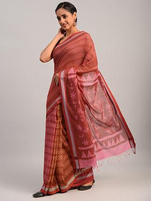 Pink Shibori Cotton Saree
