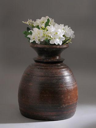 Vintage Handmade Wooden Pot (Dia - 8.2in, H - 11.2in)