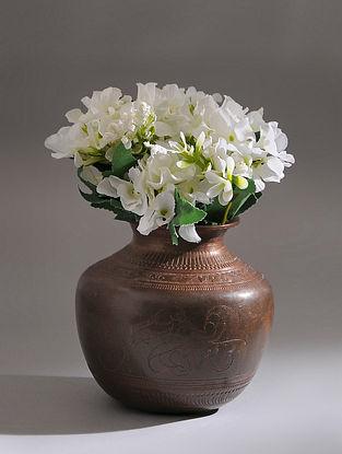 Vintage Handmade Brass Pot (Dia - 6in, H - 6in)
