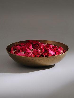 Vintage Handmade Brass Bowl (Dia - 7.6in, H - 1.6in)