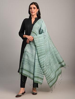 Green Handloom Shibori Cotton  Dupatta