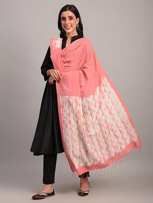 Pink Handloom Shibori Cotton Dupatta