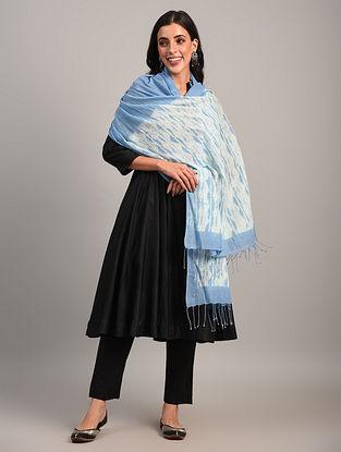 Blue Handloom Shibori Cotton Dupatta