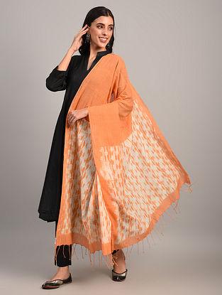 Orange Handloom Shibori Cotton Dupatta
