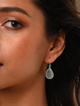 Aqua Classic Silver Earrings with Chalcedony