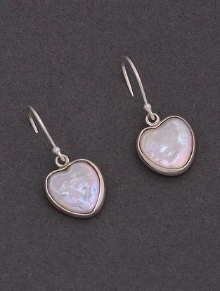 Classic Silver Earrings with Baroque Pearls