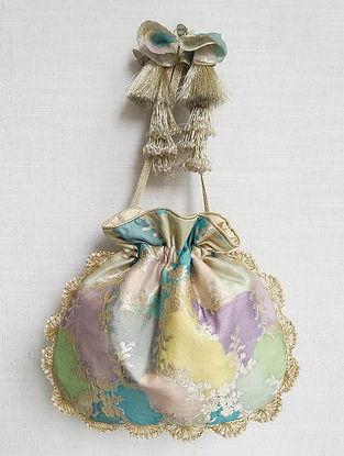 Multicolored Handcrafted Benarasi Silk Potli