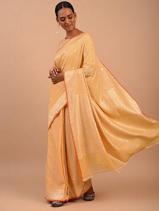 Beige Handwoven Benarasi Silk Saree