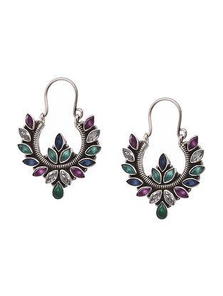 Multicolour Silver Earrings