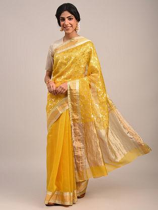 Yellow Handwoven Chanderi Saree