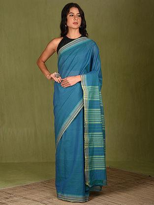 Blue Handwoven Cotton Saree