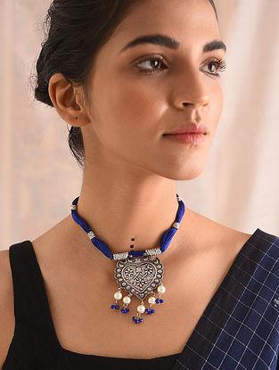 Blue Silver Naama Necklace