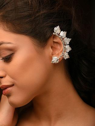 Chinaar Patta Silver Ear Cuffs