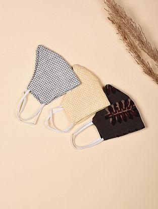 Kids Fit - Triple Layered 100% Cotton Mask (Set of 3)