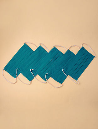 Reusable 100% cotton Fabric Pleated Mask ( Set of 5)
