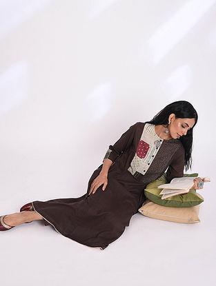 HIMANI - Brown Cotton Kurta with Patchwork