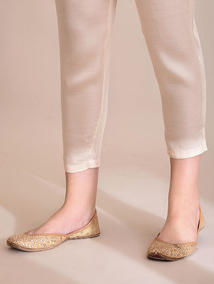 Ivory Elasticated Waist Modal Pants