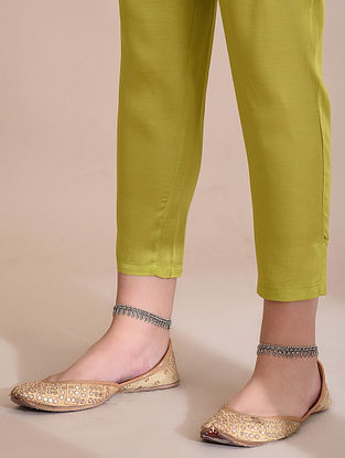 Lime Elasticated Waist Modal Pants
