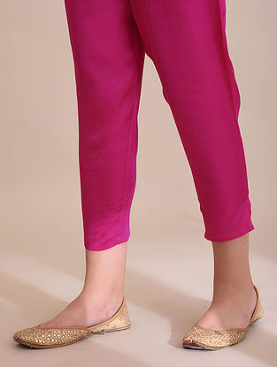 Pink Elasticated Waist Modal Pants
