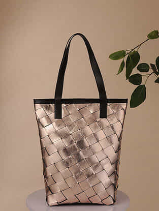 Copper Handcrafted Genuine Leather Tote Bag