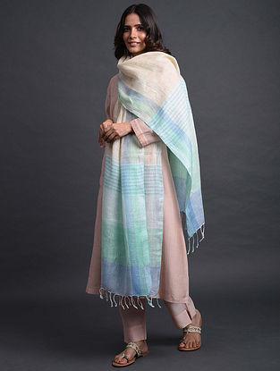 Multicolored Handwoven Linen Dupatta
