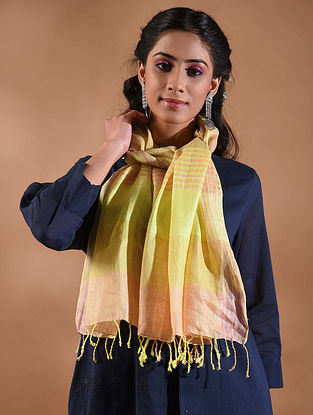 Yellow Handwoven Linen Stole