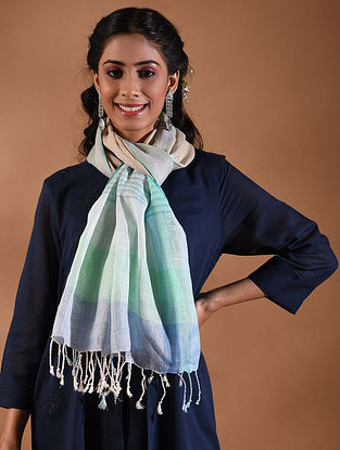 Multicolored Handwoven Linen Stole