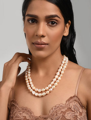 Baroque Pearl Beaded Necklace