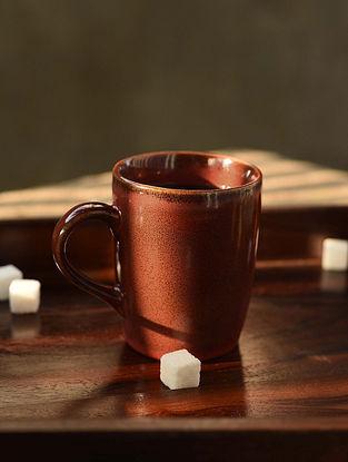 Rust Handmade Ceramic Coffee Mug (L - 4.5in, W - 5.2in, H - 4.2in)