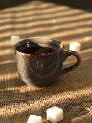 Handmade Ceramic Tea Cup (L - 4.2in, W - 3.2in, H - 2.5in)