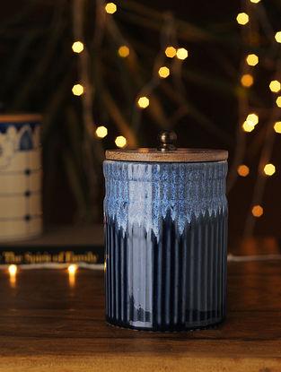 Indigo Handcrafted Ceramic Jar