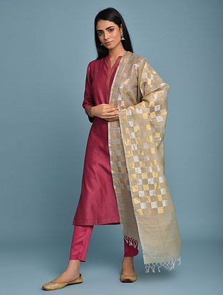 Multicolored Handwoven Muga Silk Dupatta