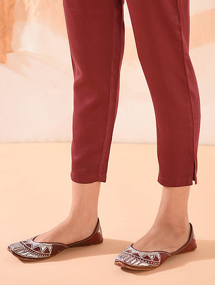 Red Elasticated Waist Modal Pants