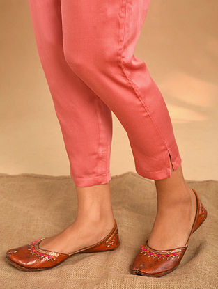 Rust Elasticated Waist Modal Pants