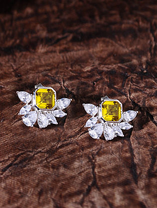 Yellow Silver Earrings