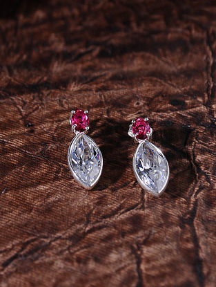 Pink Silver Earrings