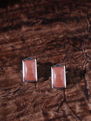 Peach Silver Earrings