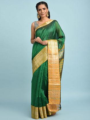 Green Handwoven Silk Cotton Saree
