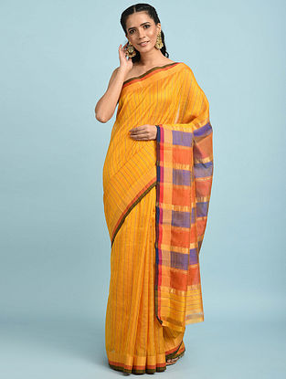 Yellow Handwoven Silk Cotton Saree