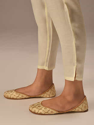 Ivory Elasticaed Waist Modal Pants