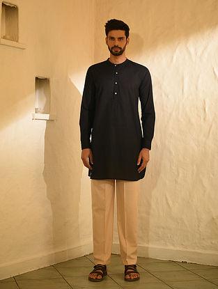 Black Mangalgiri Cotton Short kurta