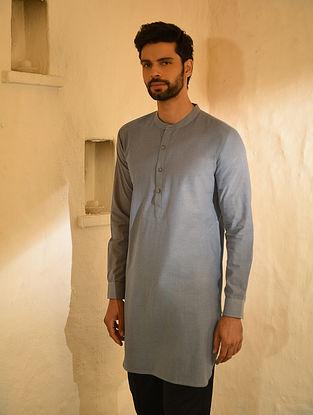 Grey Mangalgiri Cotton Short kurta