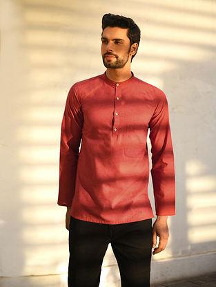 Maroon Mangalgiri Cotton Very Short kurta
