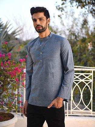 Blue Mangalgiri Cotton Very Short kurta