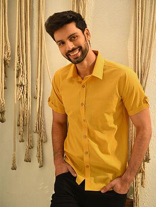 Mustard Mangalgiri Half Sleeve Cotton Shirt