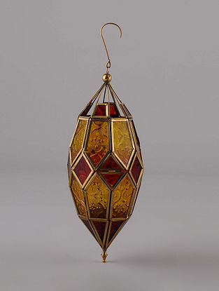 Red Yellow Hanging Handcrafted Lantern