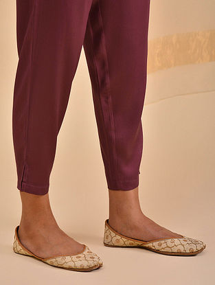 Maroon Elasticated Waist Modal Pants