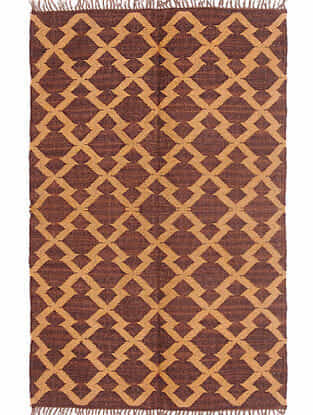 Multicolor Wool and Jute Panja Dhurrie (L- 6ft x W- 2.11ft)