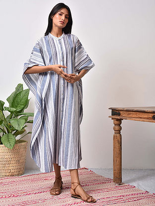 Blue Striped Cotton Maxi