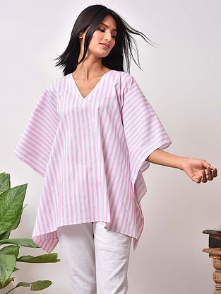 Pink Striped Cotton Kaftan